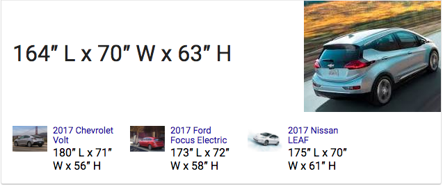 Chevrolet Bolt-dimensions
