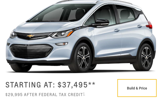 Chevrolet Bolt-starting price