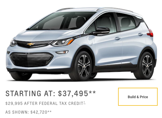 Chevy Build And Price >> Chevy Bolt Sales In Usa Limited By 12 Factors