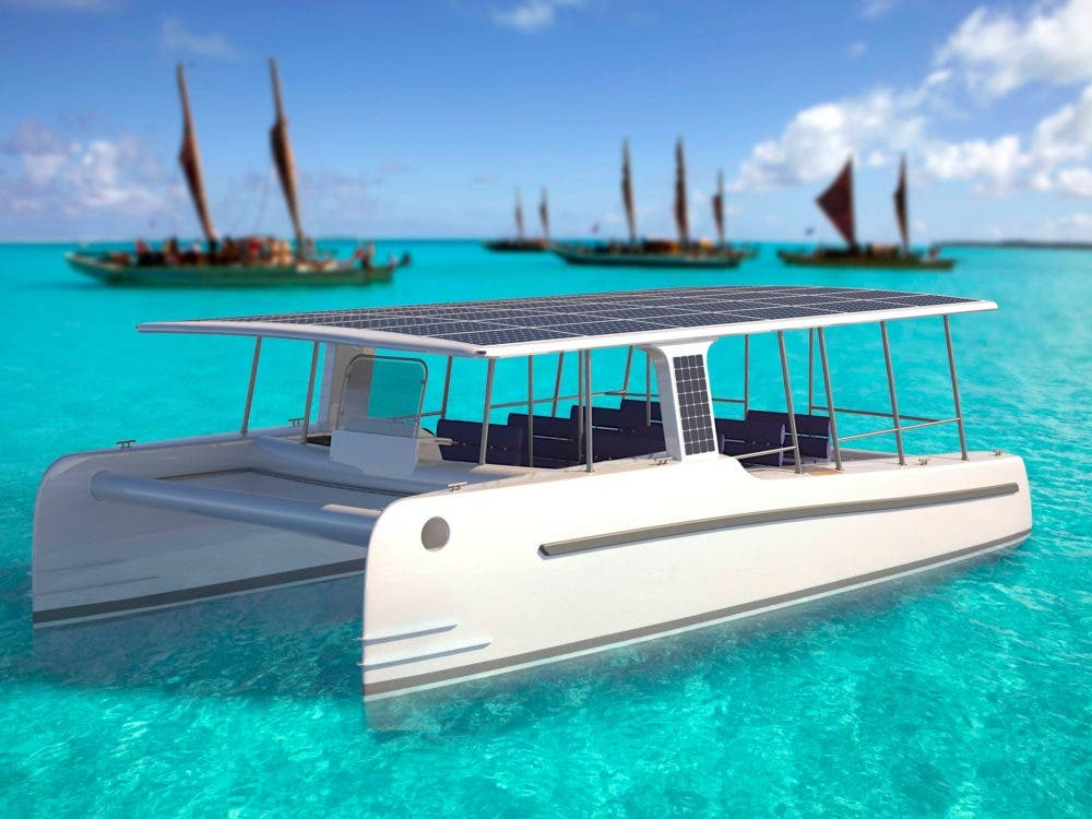 Solar powered SoelCat 12 Yacht