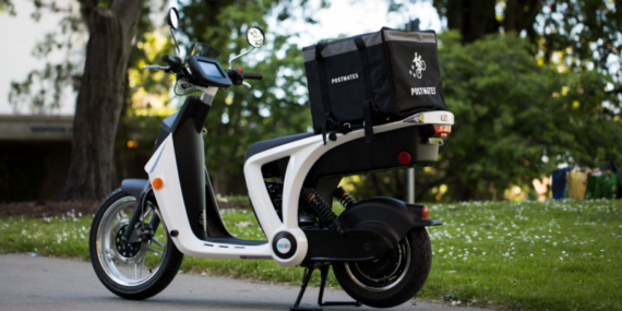 Genze e-scooter partners with Postmates