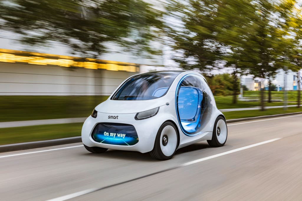 New Smart Concept Car Self Drives Personalised Mobility To You