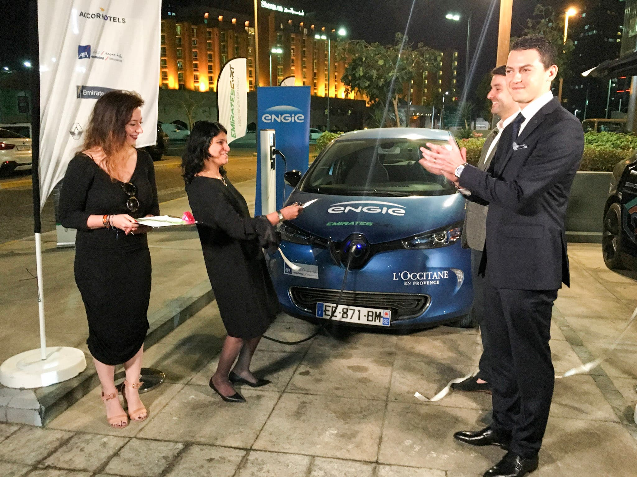 Global EVRT open new charging station in Abu Dhabi