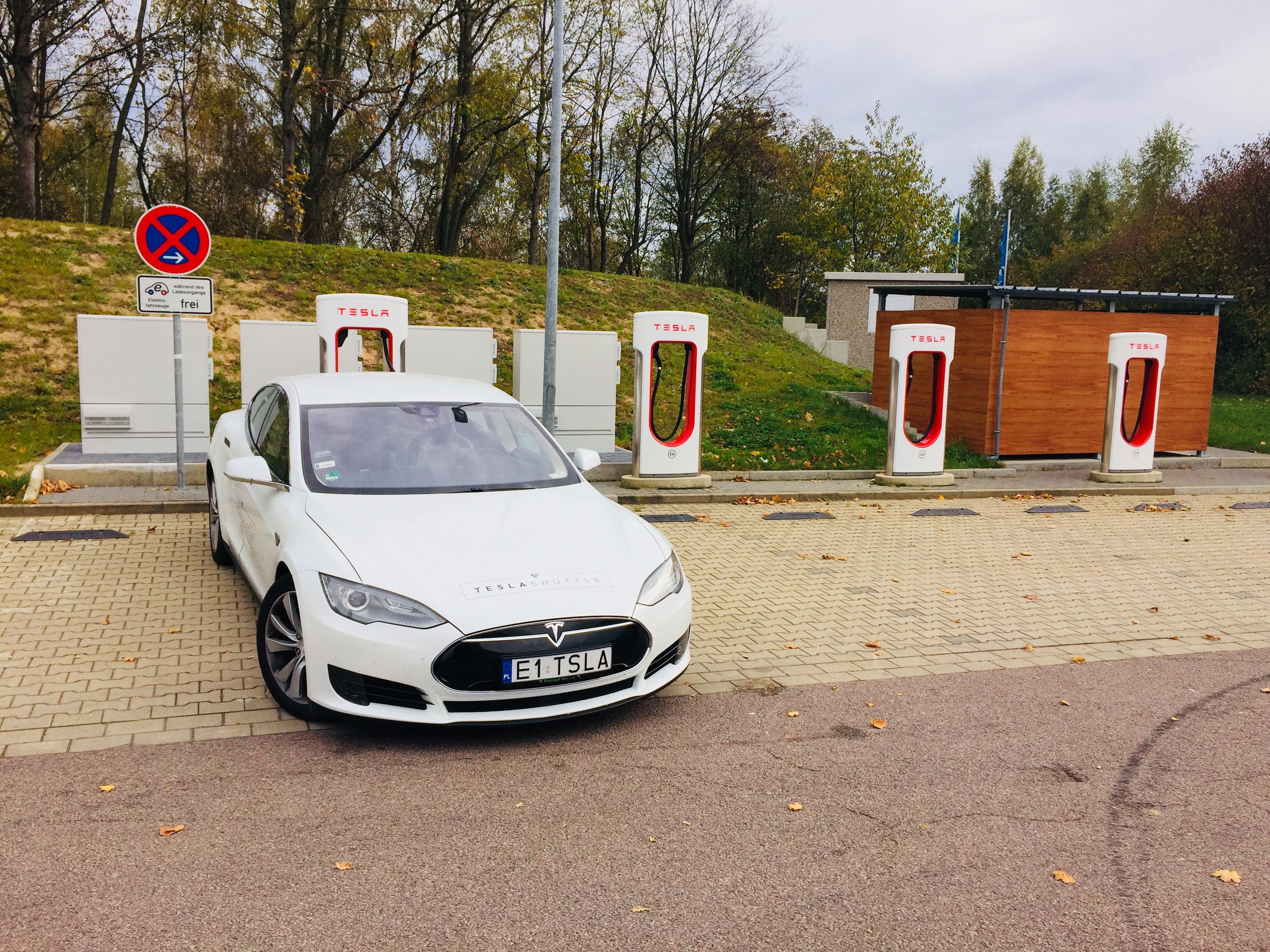 Tesla Model S Supercharging During Poland To Paris Road Trip Image By Shuttle