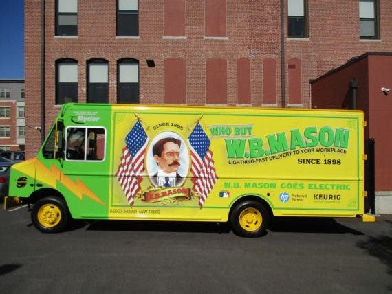 WB Mason electric delivery van