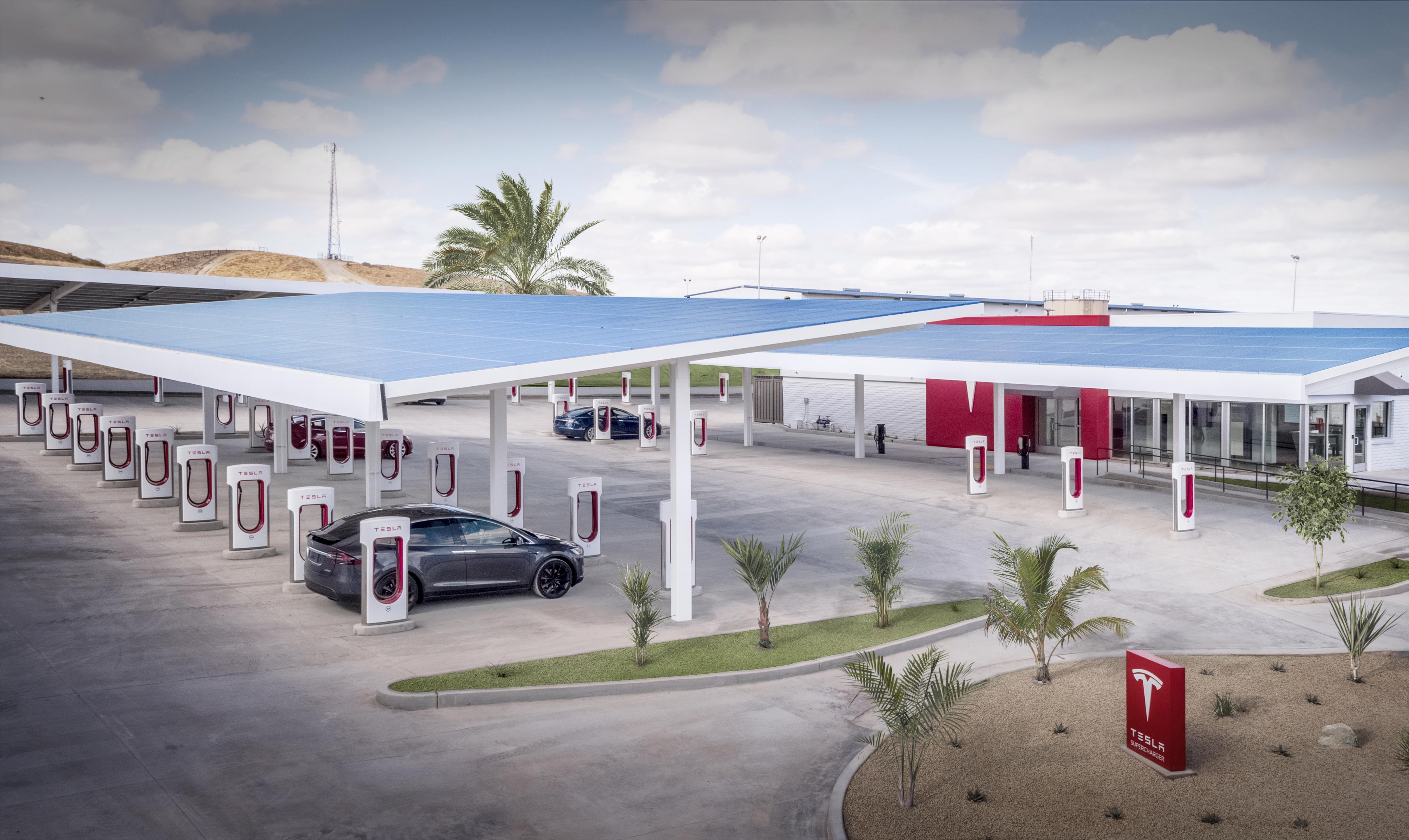 Tesla supercharger design
