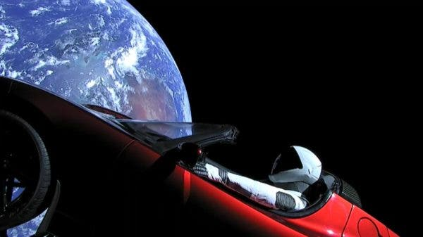 Flat Earth and Tesla Roadster