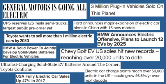 2017 electric vehicle news headlines