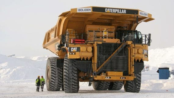 Caterpillar electric truck Sweden