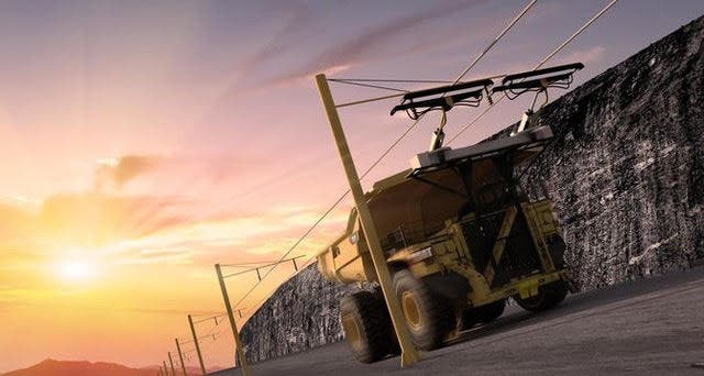 Initially The Electrified Trucks Will Only Be Used To Haul Non Ore Bearing Rocks A 200 Foot High Area Half Mile Away But If System Proves