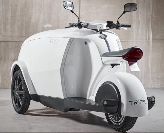 TRIPL: A Funky Urban Electric Scooter ... With Cargo ...