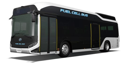 Toyota fuel cell bus Japan
