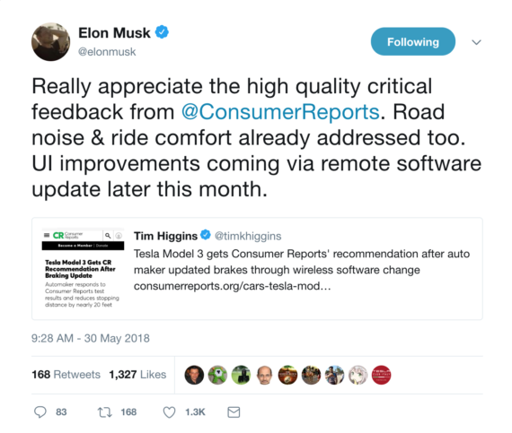 Tesla Over-The-Air Update Fixes Model 3 Braking Issues