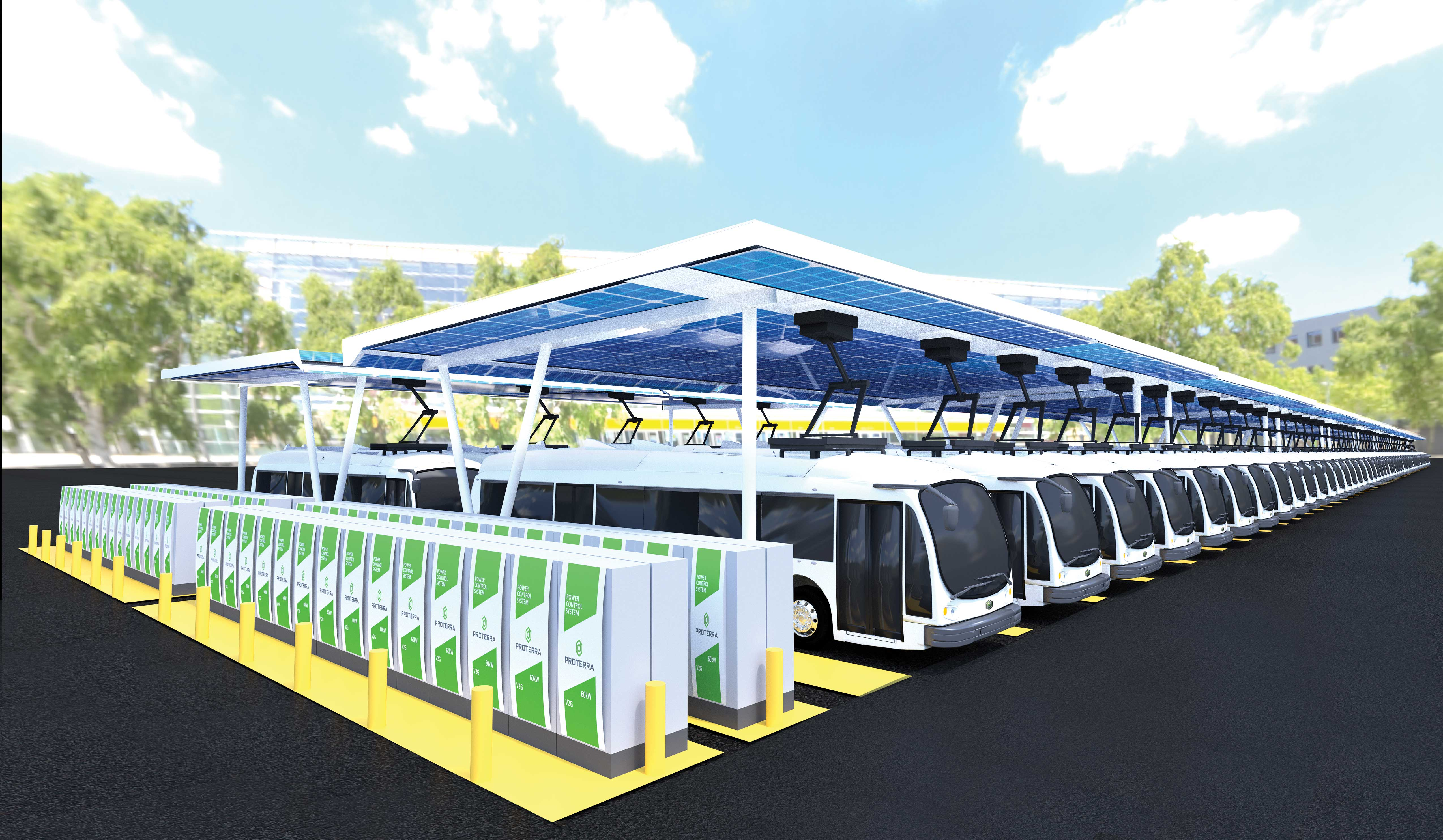 Proterra electric bus depot