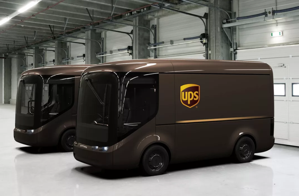 UPS electric delivery van