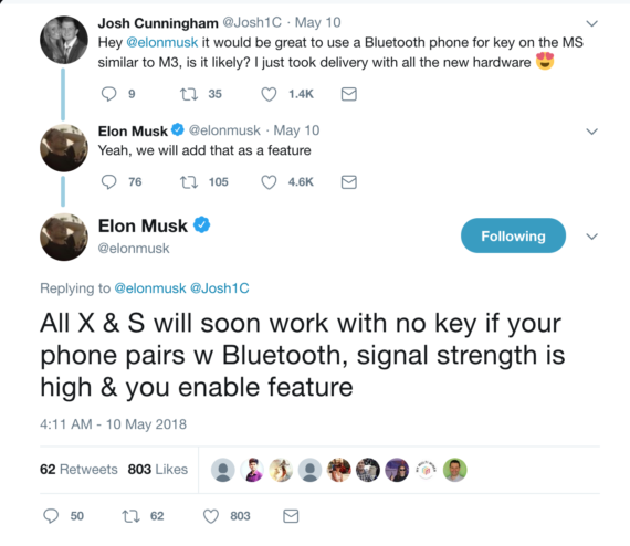 Tesla To Offer Bluetooth Authentication (Instead Of Key Fob