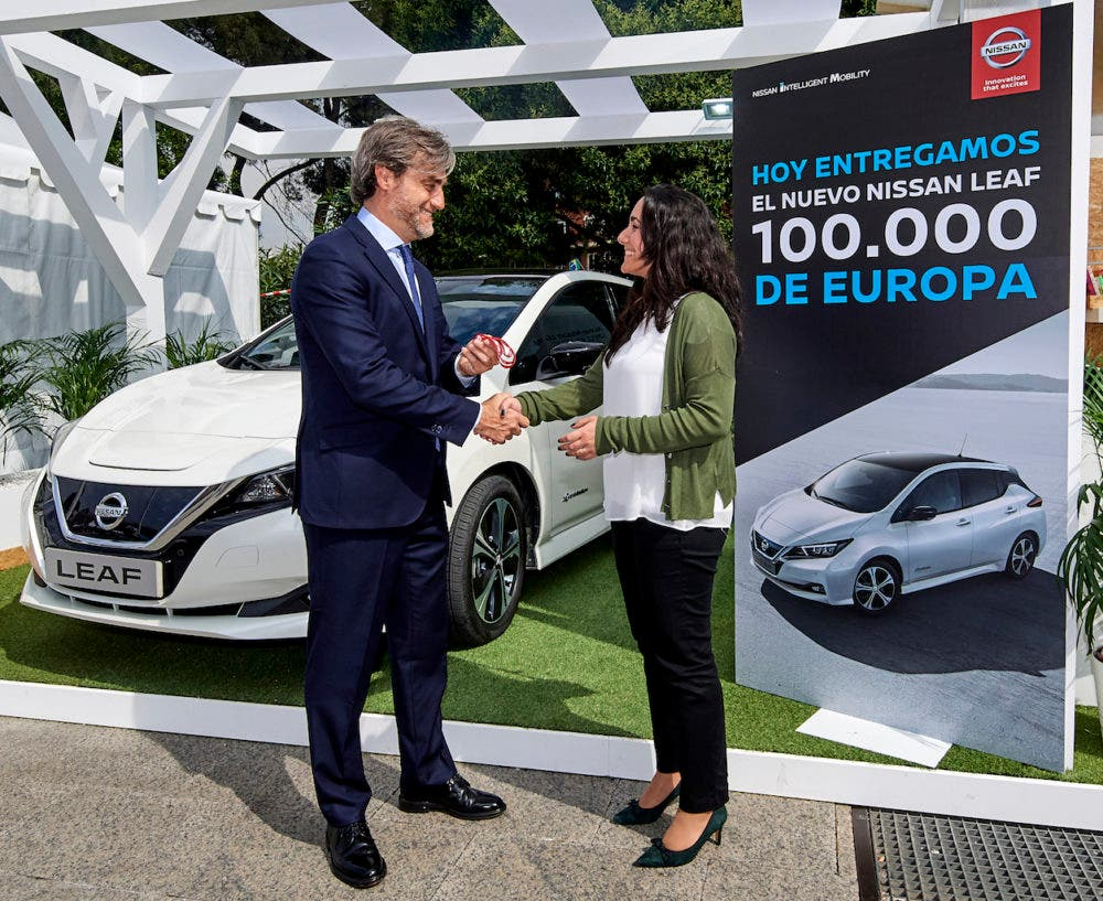 Susana De Mena Of Madrid The 100 000th Er A Nissan Leaf In Europe Said I Ve Spent Two Years Trying To Find An Electric Car