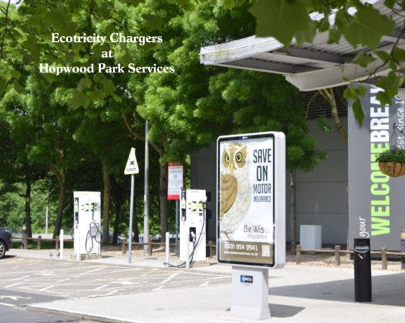 Fast Chargers at Hopwood Park