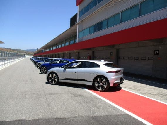 I-Pace on track