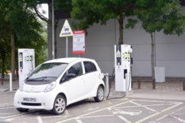 Charging at Hopwood Park, M42, UK