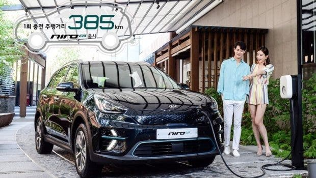 kia niro electric now on sale in korea features choice of. Black Bedroom Furniture Sets. Home Design Ideas