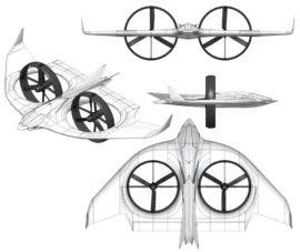 Electric Aviation Circular Wing Project Zero