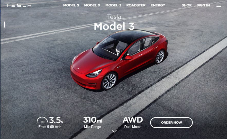 tesla slashes lead times puts the model 3 in the spotlight in new homepage updates cleantechnica. Black Bedroom Furniture Sets. Home Design Ideas