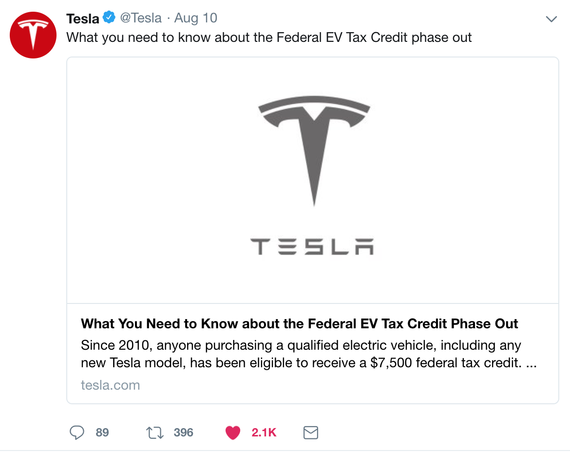Oddly Tesla Didn T Announce This As A Great Milestone But Tax Credit Concern There S Reason For That Of Course The Us Federal Credits