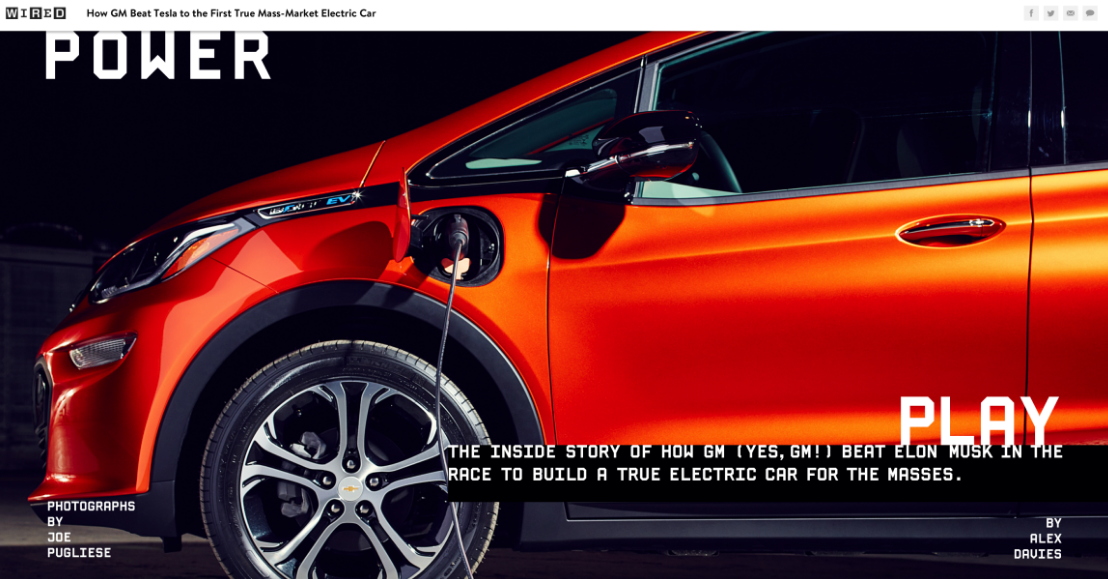 Chevy Bolt electric car