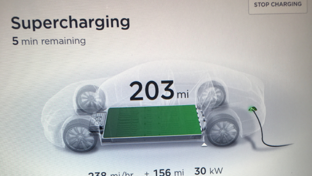 Kettleman City - 203 miles of charge