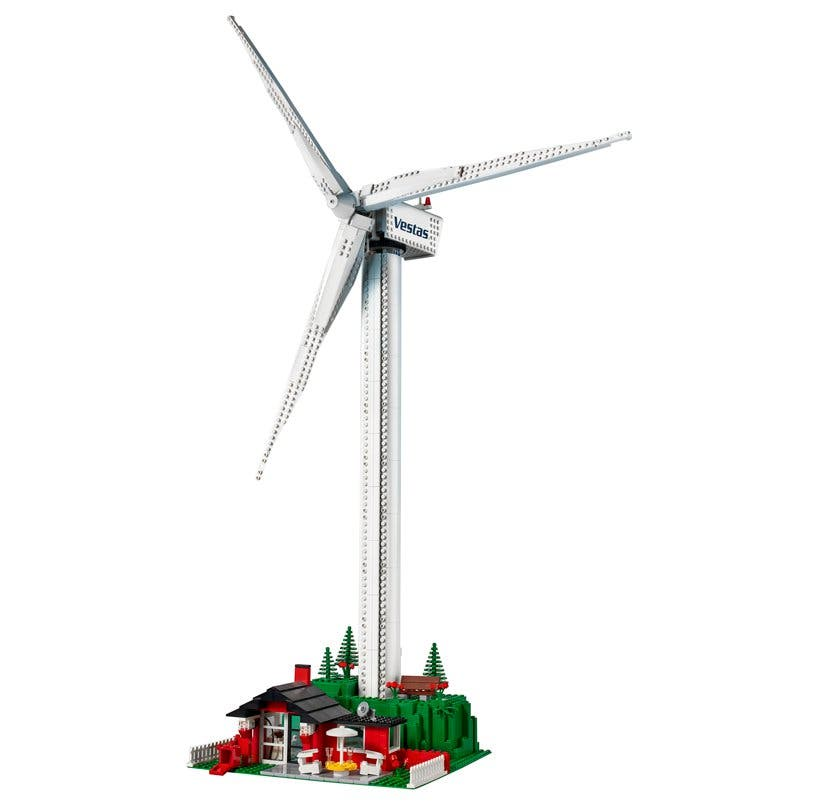 adorable lego wind turbine is made from sustainable bricks