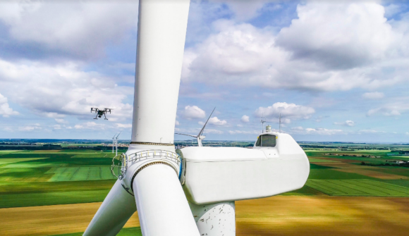 Drones & AI Used To Quickly Inspect Wind Turbines