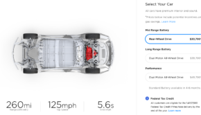 Tesla Model 3 mid-range specs and pricing