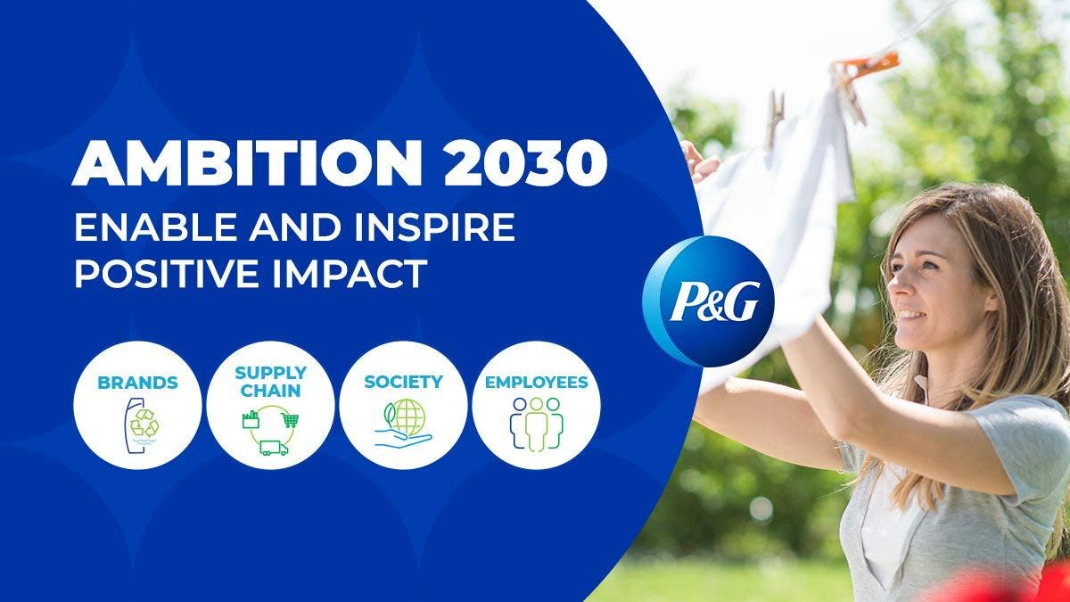 photo image P&G Achieves 2020 Sustainability Goals Early, Raises The Bar For 2030