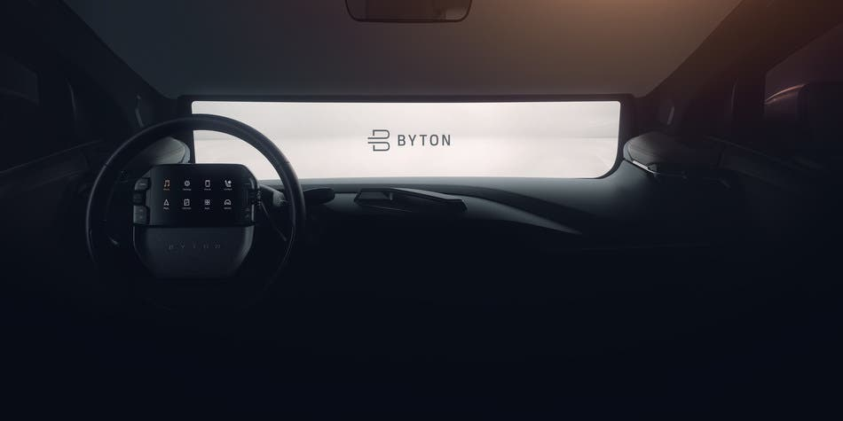 Byton K-Byte Interior Sneak Peek