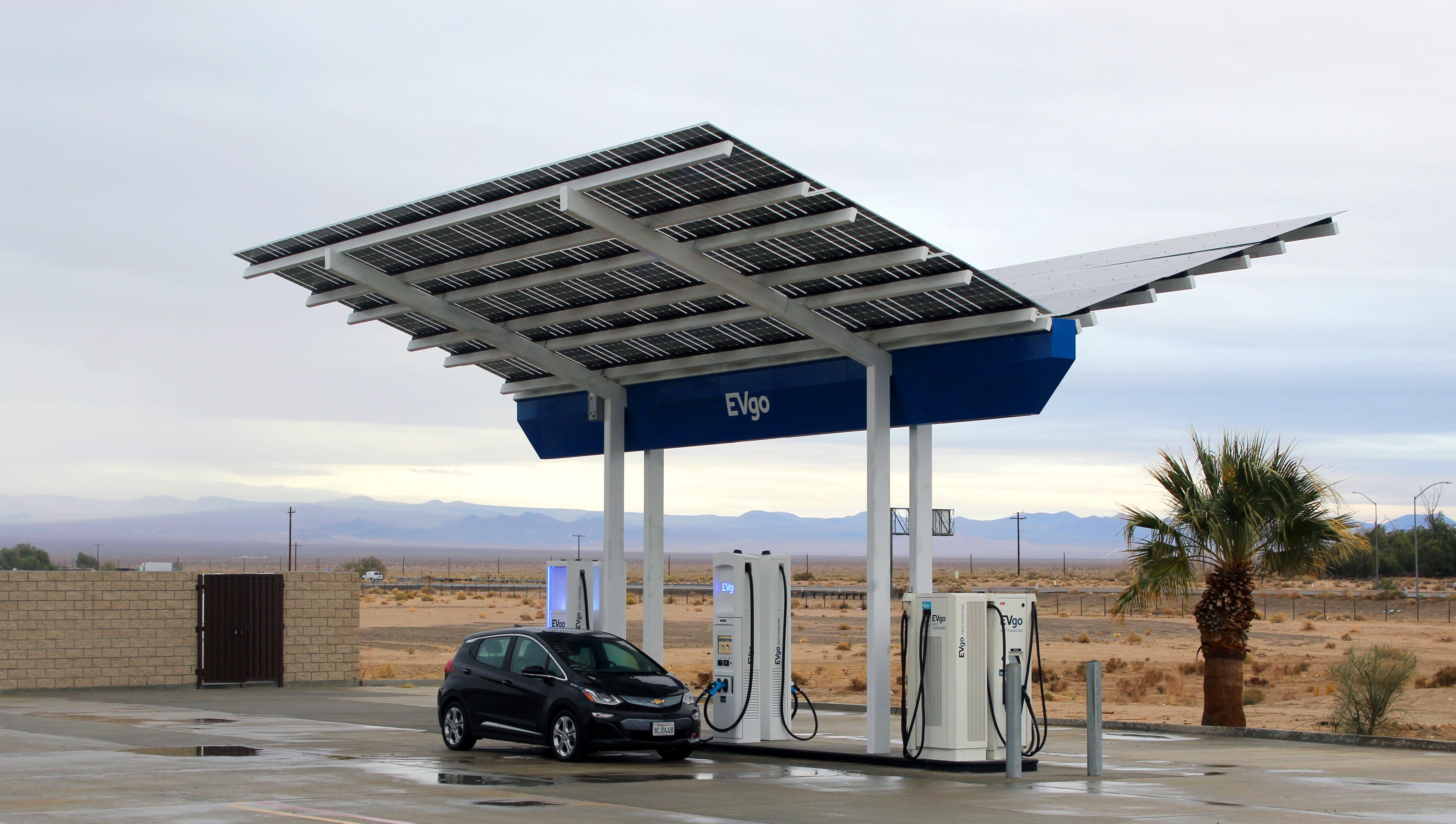 EVgo Goes Plaid With New Ultra-Fast Charging Station In Baker