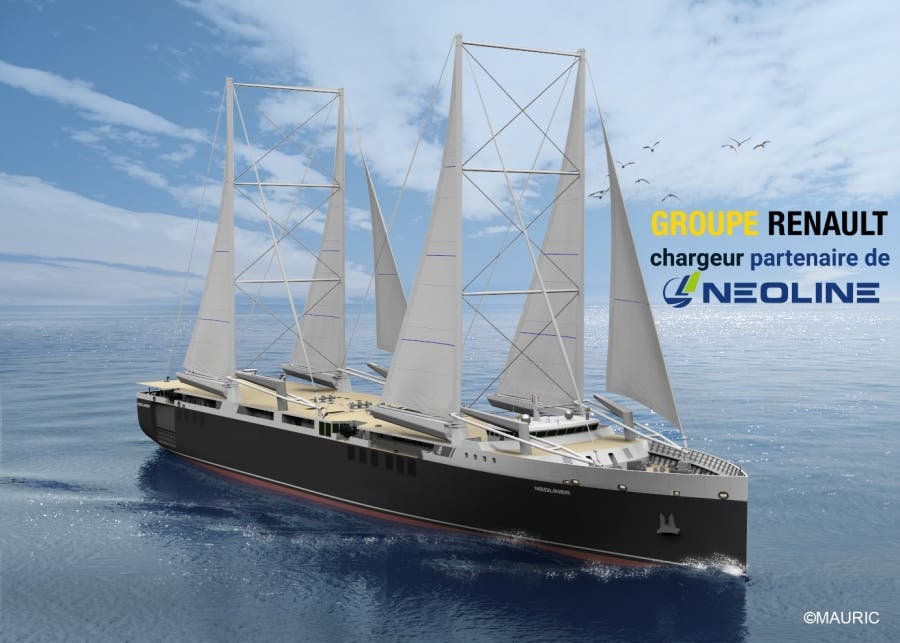 Renault sailing cargo ship