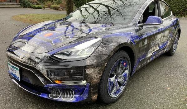 Check Out This Wicked Awesome Tesla Model 3 Inspired By Star Wars