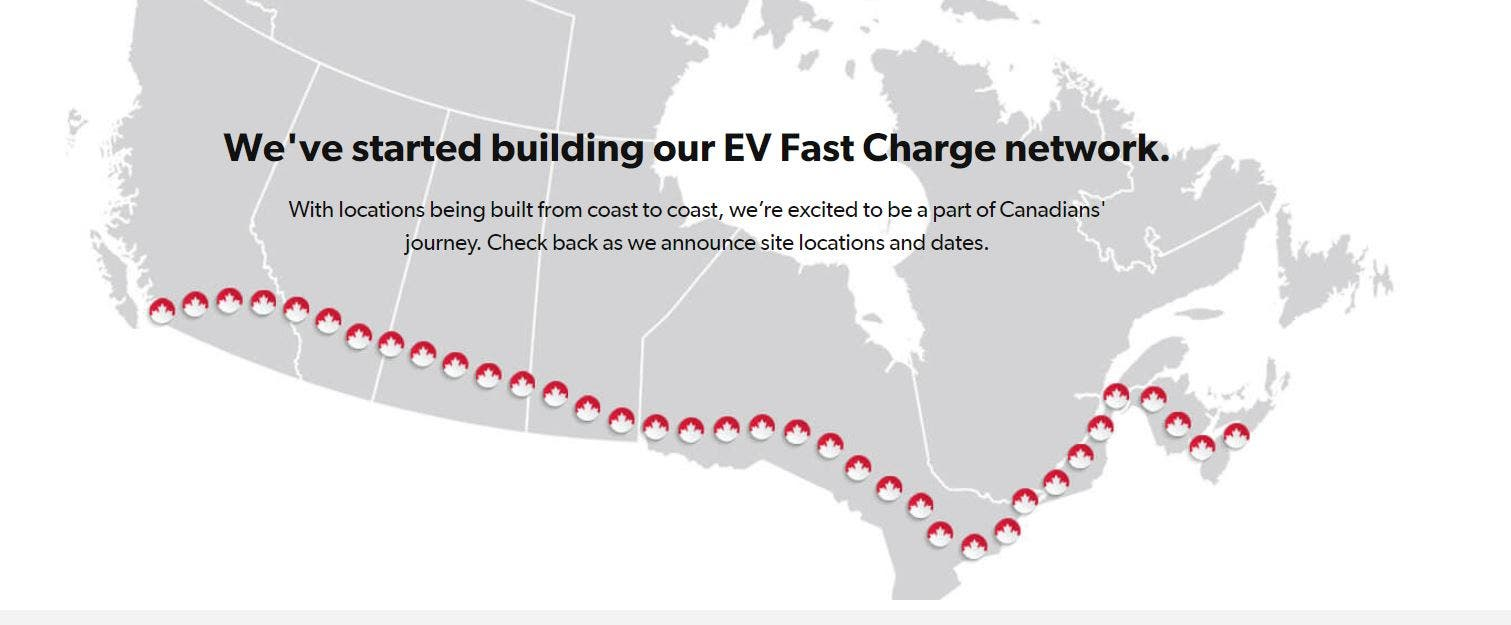 fast charging network Canada