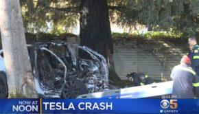 Tesla crash Fremont