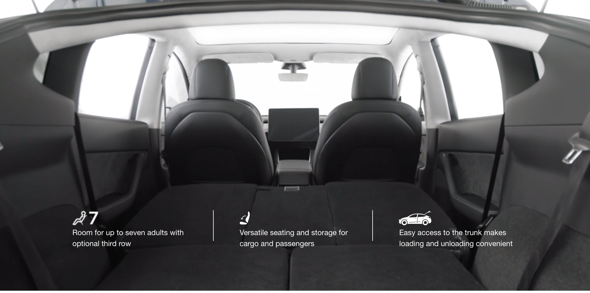 Seats Can Be Folded Down Flat To Maximize Its Hauling Capacity With 66 Cubic Feet Of Storage E The Model Y Packs A Significant Amount Utility