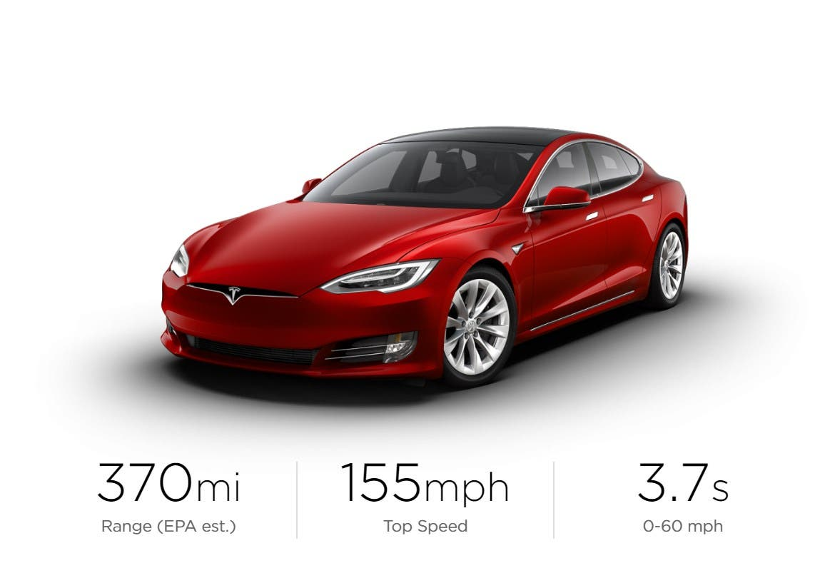 New Tesla Model S 370 Miles Of Range Epa Goes From Bay Area To La On One Charge Comparisons