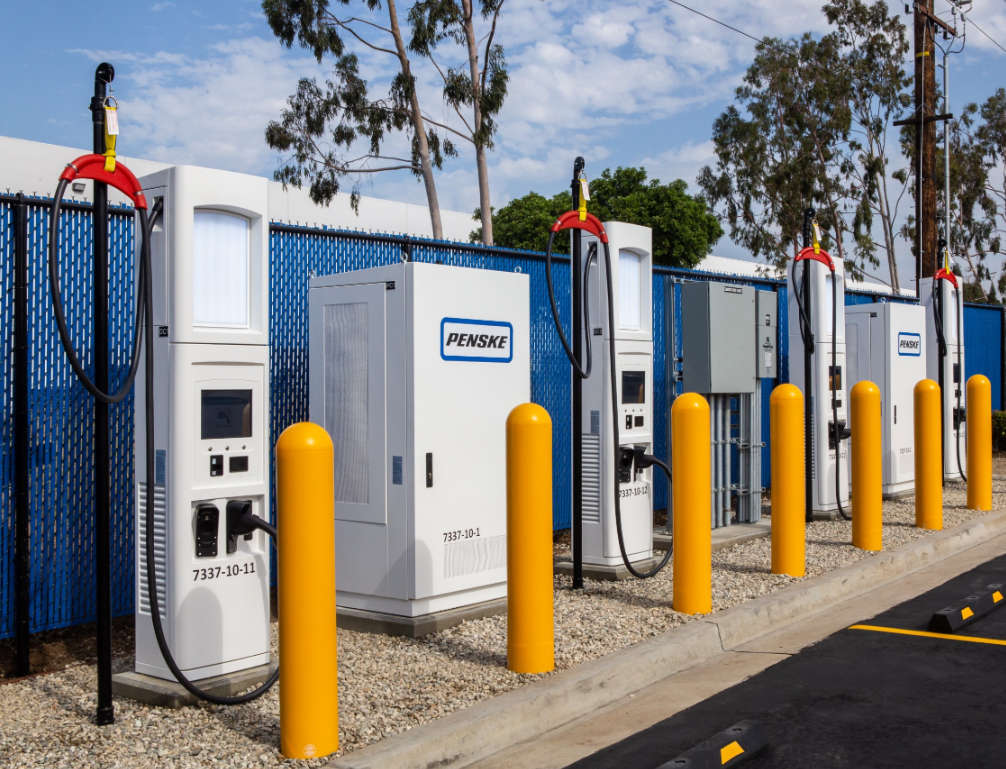 Penske electric truck charger