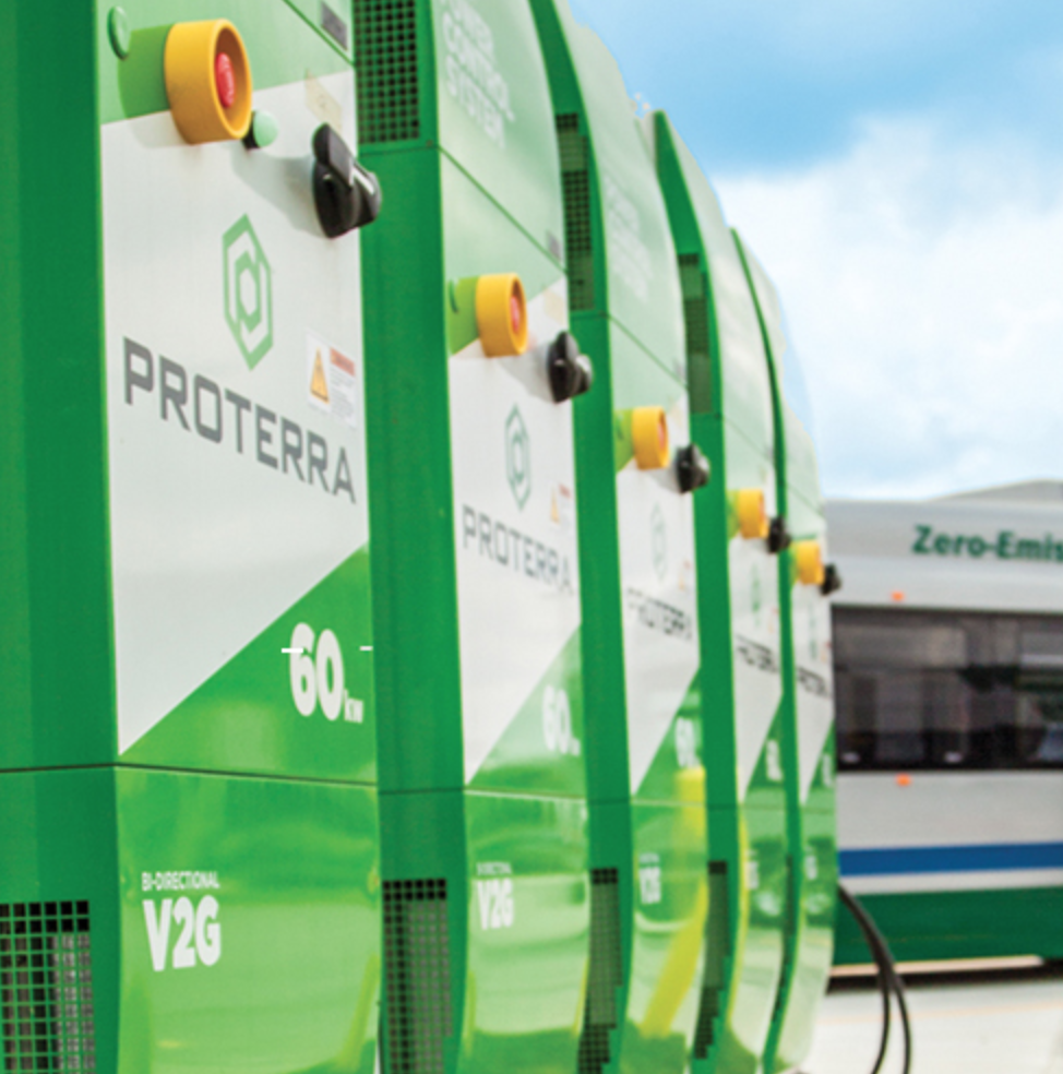 Proterra electric bus chargers
