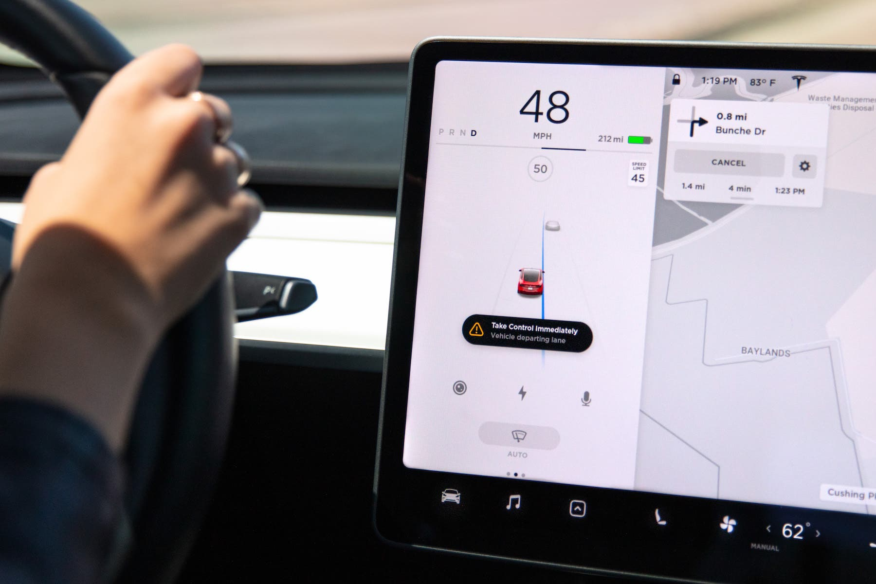 Tesla Rolls Out Safety Feature to Keep Drivers in Their Lane