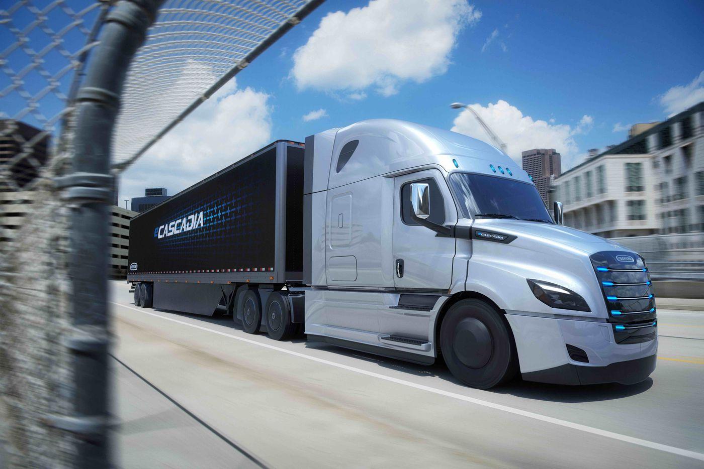 Daimler eCascadia electric truck