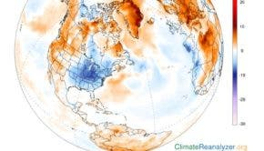 global temperatures in Arctic