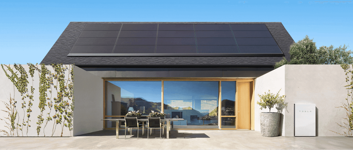 Tesla Solar panels and Powerwall
