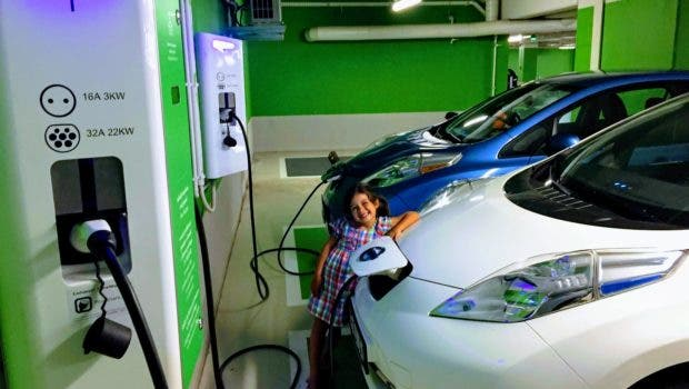 Nissan LEAFs Girl Kid EV Charging Station Wroclaw Poland Zach Shahan CleanTechnica 4 620x350 - From Range Anxiety To Gas Station Anxiety?