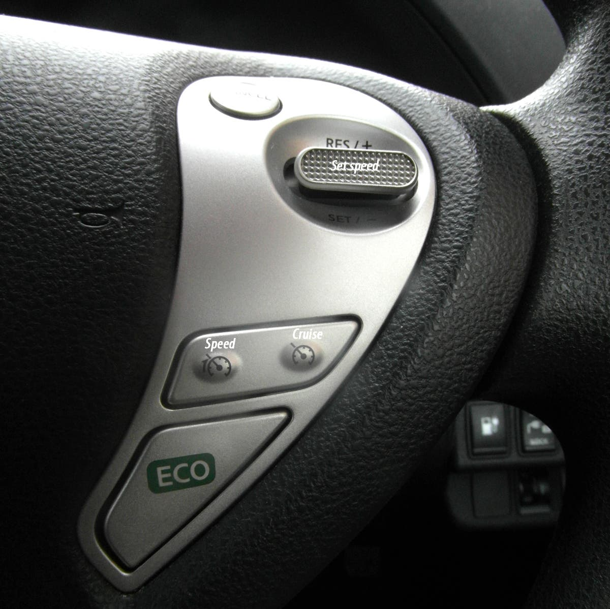 speed, and cruise controls